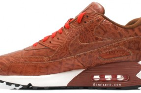 Step Ya Shoe Game Up! Nike Air Max 90 Cocodile Skin 922059cb7e42